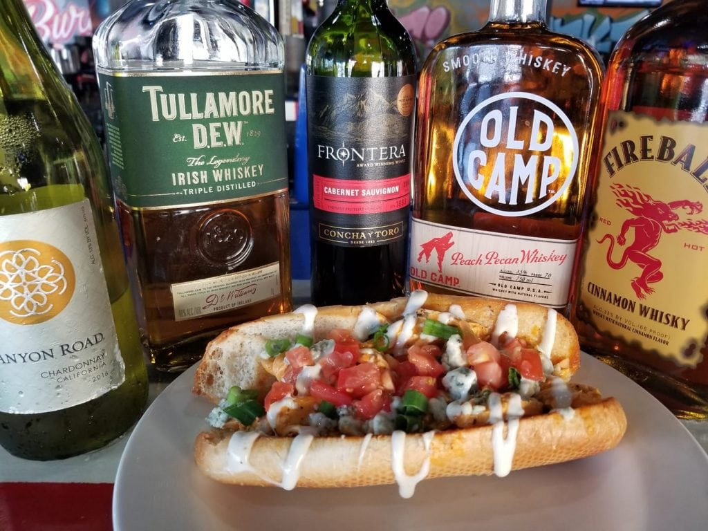 A Hot Dog With Liquor