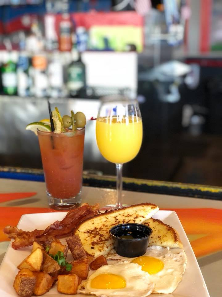 Breakfast With A Mimosa and A Bloody Mary
