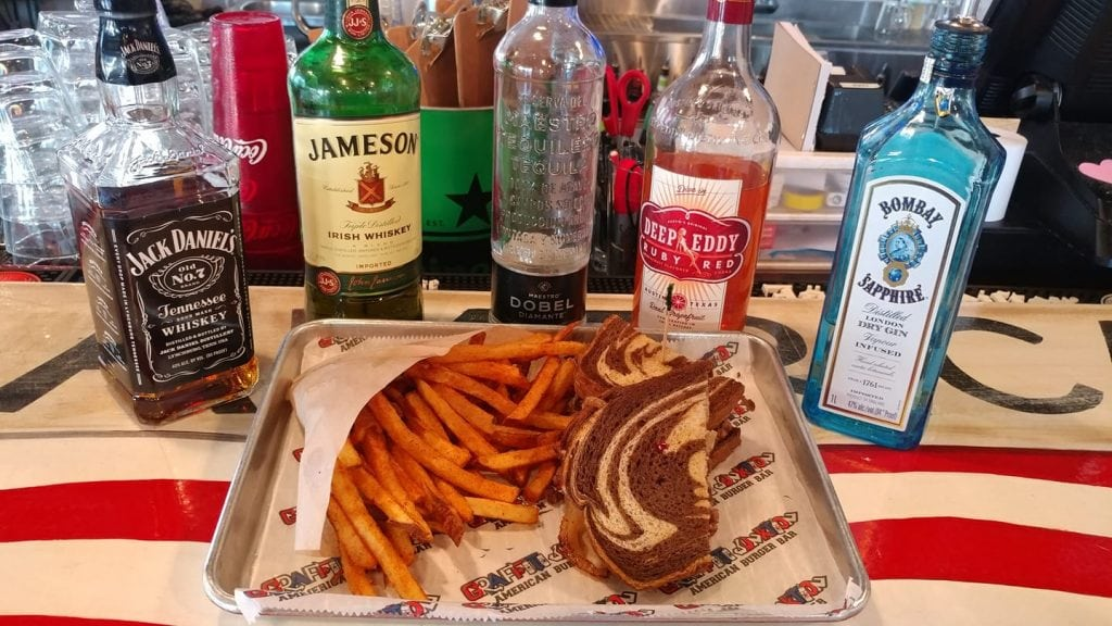 A Rueben With Fries and Liquor